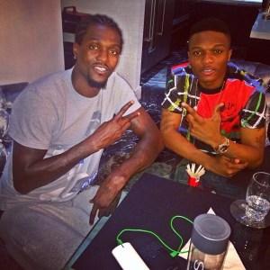Wizkid Enjoys Dinner with Emmanuel Adebayo [Photo]